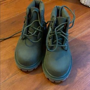Olive green toddler timberlands size 7